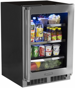 "MP24BRF3RP Marvel Professional 24"" Beverage Center with Lock - Right Hinge - Panel Overlay/Frame Ready"