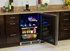 """MP24BRF3RP Marvel Professional 24"""" Beverage Center with Lock - Right Hinge - Panel Overlay/Frame Ready"""