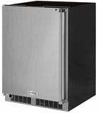 """MP24FAS4LS Marvel 24"""" Professional Left Hinge Solid Panel Undercounter All Freezer with Dynamic Cooling Technology and Close Door Assist System - Stainless Steel"""