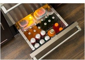 """MP24RDS3NS Marvel 24"""" Professional Undercounter Refrigerated Drawers with Dynamic Cooling Technology and Close Door Assist System - Stainless Steel"""