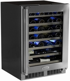"MP24W Marvel Professional Series Single/Dual Zone 24"" Wine Cellars"