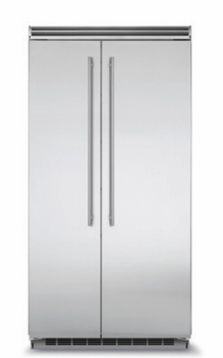 "MP42SS2NS 42"" Marvel 25.32 Cu. Ft. Side-by-Side Refrigerator with Dynamic Cooling Technology and Digital Controls - Stainless Steel"