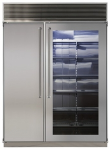 "MPRO60CSS-SGX Marvel Professional 60"" Built-in Side-by-Side Refrigerator/Freezer with Stainless Interior - Glass Door"