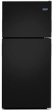 """MRT311FFFE 33"""" Maytag Top Freezer Refrigerator with Power Cold and BrightSeries LED Lighting - Black"""