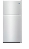 "MRT311FFFM 33"" Maytag Monochromatic Top Freezer Refrigerator with Power Cold and BrightSeries LED Lighting  - Stainless Steel"