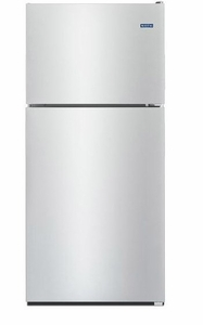 "MRT311FFFZ 33"" Maytag Top Freezer Refrigerator with Power Cold and BrightSeries LED Lighting  - Fingerprint Resistant Stainless Steel"