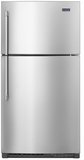 "MRT711SMFZ 33"" Maytag Top Freezer Refrigerator with Power Cold and EvenAir Cooling Tower - Stainless Steel"