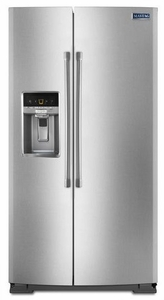 MSB26C6MDM Maytag 26 cu. ft. Side-by-Side Refrigerator with Standard Depth Styling - Monochromatic Stainless Steel