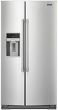 "MSC21C6MFZ Maytag 36"" 21 cu. ft. Counter Depth Side-by-Side Refrigerator with PowerCold and EveryDrop Water Filter - Fingerprint Resistant Stainless Steel"