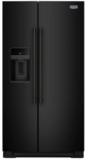 """MSS26C6MFB Maytag 36"""" 26 cu. ft. Side-by-Side Refrigerator with PowerCold and EveryDrop Water Filter - Black"""