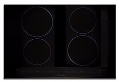 """MVIC6304B Viking 30"""" Virtuoso Professional 6 Series 30"""" Built-In All Induction Electric Cooktop with MagneQuick Induction and 4 Elements - Black Glass"""
