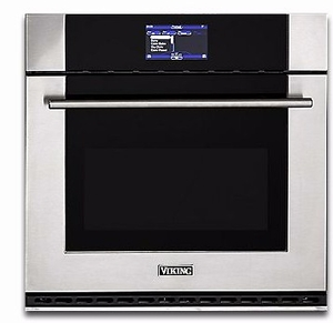 "MVSOE630SS Viking 30"" Virtuoso Professional 6 Series Single 4.3 cu. ft. Thermal Convection Oven with TruConvec and Self-Clean- Stainless Steel"
