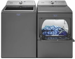 """MVW765FC Maytag 28"""" 4.7 cu. ft. High-Efficiency Top Load Washer with PowerWash Cycle and 11 Wash Cycles - Metallic Slate"""