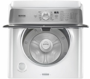 """MVWB765FW 28"""" Maytag 4.7 Cu. Ft. Top Load Washer with Deep Fill Options and 900 RPM - White"""