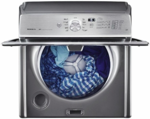 "MVWB835DC Maytag 28"" 5.3 Cu. Ft. Top Load Washer with Deep Water Wash Cycle and Audio Level Option - Metallic Slate"