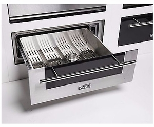 """MVWD630SS Viking 30"""" Virtuoso 6 Series Warming Drawer with Heavy-Duty Drawers and Capacitive Touch Digital Controls - Stainless Steel"""