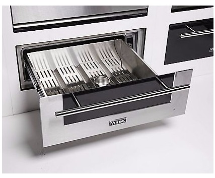 """MVWD630SS Viking 30"""" Virtuoso Professional 6 Series Warming Drawer with Heavy-Duty Drawers and Capacitive Touch Digital Controls - Stainless Steel"""