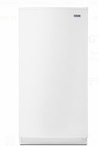 "MZF34X16DW 31"" Maytag 16 Cu. Ft. Upright Freezer with Reversible Door Lock and LED Lighting - White"