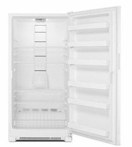"""MZF34X20DW 34"""" Maytag 20 Cu. Ft. Upright Freezer with Reversible Door and LED Lighting - White"""