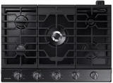 "NA30K6550TG Samsung 30"" Gas Cooktop with 5 Sealed Burners and Griddle - Black Stainless Steel"