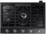 "NA30K7750TG Samsung 30"" Gas Cooktop with 5 Sealed Burners and Griddle - Black Stainless Steel"