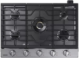 "NA30K7750TS Samsung 30"" Gas Cooktop with 5 Sealed Burners and Griddle - Stainless Steel"