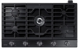 "NA36K6550TG Samsung 36"" Gas Cooktop with 5 Sealed Burners and Griddle - Black Stainless Steel"