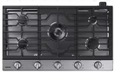 "NA36K6550TS Samsung 36"" Gas Cooktop with 5 Sealed Burners and Griddle - Stainless Steel"
