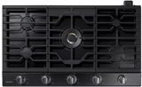 "NA36K7750TG Samsung 36"" Gas Cooktop with 5 Sealed Burners and Griddle - Black Stainless Steel"