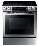 NE58F9500SS Samsung 5.8 Cu. Ft. Slide-in Electric Range with Dual Convection - Stainless Steel