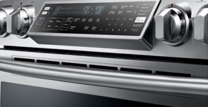 NE58F9710WS Samsung Slide-In Electric Range with Flex Duo Oven - Stainless Steel