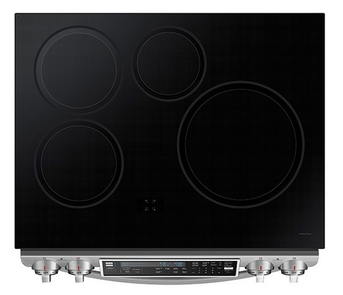 NE58H9970WS Samsung Slide-In Induction Chef Collection Range with Flex Duo Oven - Stainless Steel