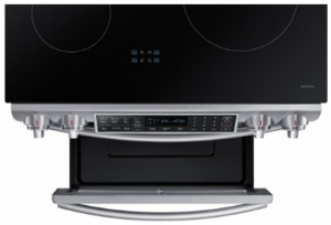 "NE58K9560WS Samsung 30"" Induction Slide-In Range with Virtual Flame Technology and WiFi Connectivity - Stainless Steel"