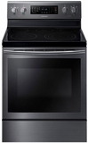 """NE59J7630SG Samsung 5.9 Cu. Ft. 30"""" Freestanding Electric Range with True Convection Oven - Black Stainless Steel"""