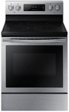 "NE59J7630SS Samsung 5.9 Cu. Ft. Electric 30"" Freestanding Range with True Convection - Stainless Steel"