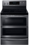 "NE59J7850WG Samsung 30"" Class Cooktop Range w/5.9 Cu.Ft Dual Door Flex Duo - Black Stainless Steel"