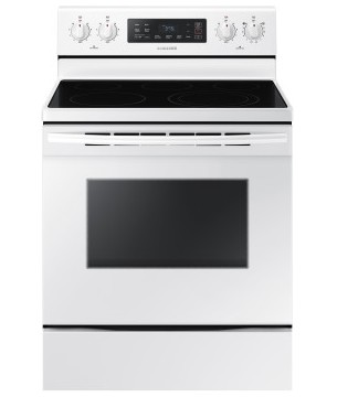 "NE59K3310SW Samsung 30"" Electric Range with 5.9 cu. ft. Conventional Oven and Storage Drawer - White"