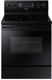 "NE59M4310SB Samsung 30"" 5.9 cu. ft. Freestanding Electric Range with Flexible Cooktop and Storage Drawer - Black"