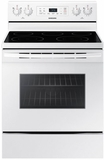 "NE59M4310SW Samsung 30"" 5.9 cu. ft. Freestanding Electric Range with Flexible Cooktop and Storage Drawer - White"