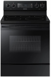 "NE59M4320SB Samsung 30"" Flex Duo 5.9 cu. ft. Freestanding Electric Range with Warming Center and Hidden Bake Element - Black"