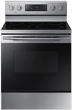 "NE59M4320SS Samsung 30"" Flex Duo 5.9 cu. ft. Freestanding Electric Range with Warming Center and Hidden Bake Element - Stainless Steel"