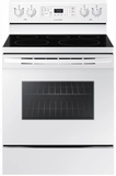 "NE59M4320SW Samsung 30"" Flex Duo 5.9 cu. ft. Freestanding Electric Range with Warming Center and Hidden Bake Element - White"