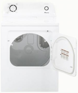 """NGD4655EW Amana 29"""" 6.5 Cu. Ft. Front-Load Gas Dryer with Automatic Dryness Control - White"""