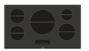 "NIT5668UC Bosch 36"" 500 Series Induction Cooktop with SpeedBoost and Child Lock - Black"