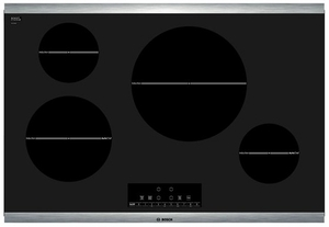 "NIT8066SUC Bosch 30"" Induction Cooktop 800 Series - Black with Stainless Trim"