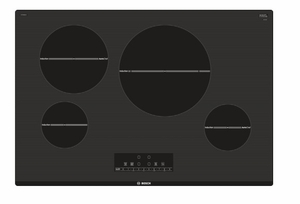"NIT8068UC Bosch 30"" 800 Series Induction Cooktop with SpeedBoost and AutoChef Technology - Black"
