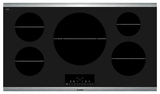 "NIT8666SUC Bosch 36"" Induction Cooktop 800 Series - Black with Stainless Steel Frame"