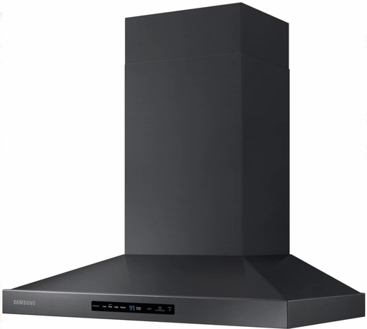"NK30K7000WG Samsung 30"" Wall Mount Chimney Hood With 600 CFM and LED Cooktop Lighting - Black Stainless Steel"