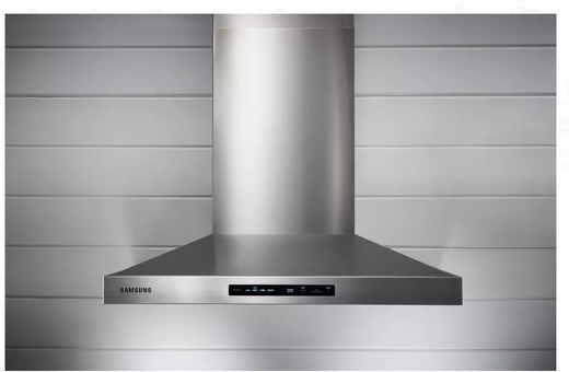 "NK30K7000WS Samsung 30"" Wall Mount Chimney Hood With 600 CFM and LED Cooktop Lighting - Stainless Steel"