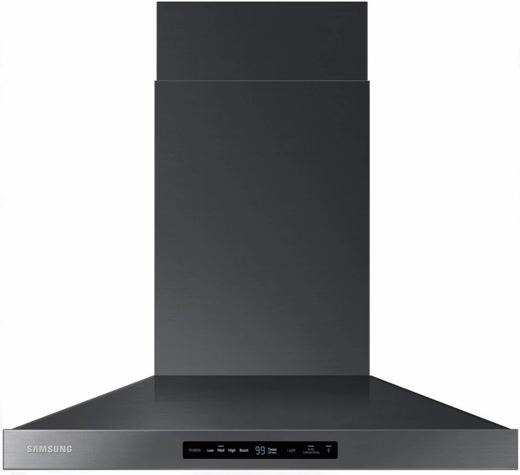 "NK36K7000WG Samsung 36"" Wall Mount Chimney Hood With 600 CFM and LED Cooktop Lighting - Black Stainless Steel"